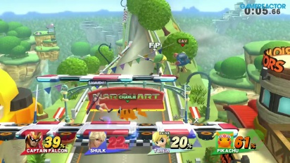 Super Smash Bros. for Wii U - Free For All Gameplay vs Level 50 Amiibo