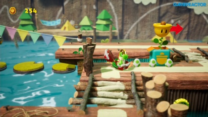 Yoshi's Crafted World - Ride the River Gameplay