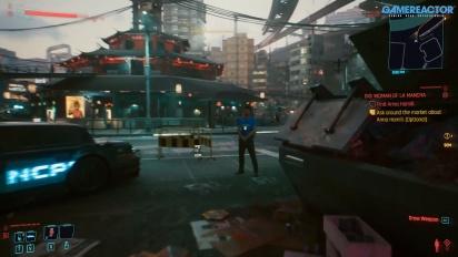 Cyberpunk 2077 - Gun for hire multiple choice option look
