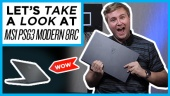 Quick Look - MSI PS63 Modern 8RC