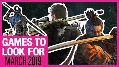 Games om naar uit te kijken - Maart 2019
