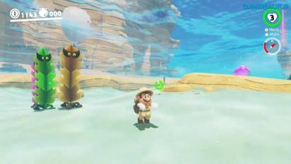 Super Mario Odyssey - Seaside Kingdom Gameplay - Part 1