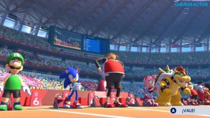 Mario & Sonic op de Olympische Spelen: Tokio 2020 - 110 Meter Horden Gameplay