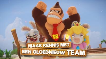 Mario + Rabbids Kingdom Battle: Donkey Kong Adventure - Gameplay Trailer