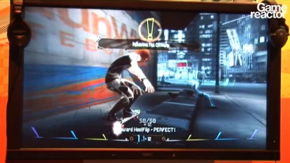 E3 10: Shaun White Skateboarding gameplay