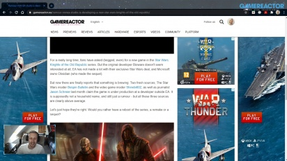 GRTV News - Rumour of a Non-EA studio developing a Star Wars: Knights of the Old Republic