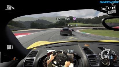 Forza Motorsport 7 - Porsche Cayman Racing Wheel Gameplay at Mugello