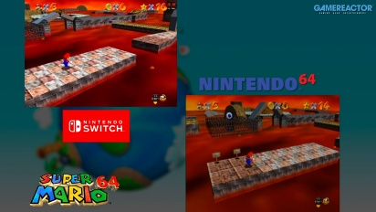Super Mario 64: Nintendo 64 VS Switch Graphics Comparison