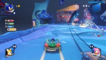 Team Sonic Racing - Frozen Junkyard Multiplayer Race