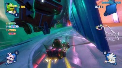 Team Sonic Racing - Frozen Junkyard Single-player Race